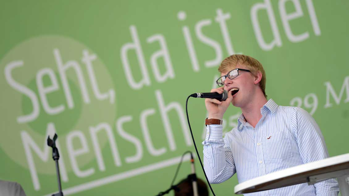 Sänger beim Katholikentag 2016 in Leipzig.