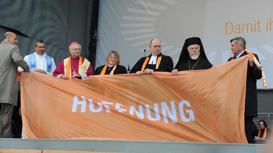 Ökumenischer Kirchentag 2010 in München. Foto: Michael Bönte