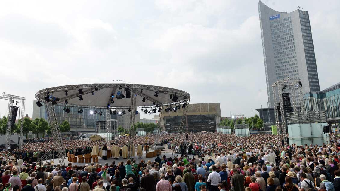 Gottesdienst beim Katholikentag 2016 in Leipzig.