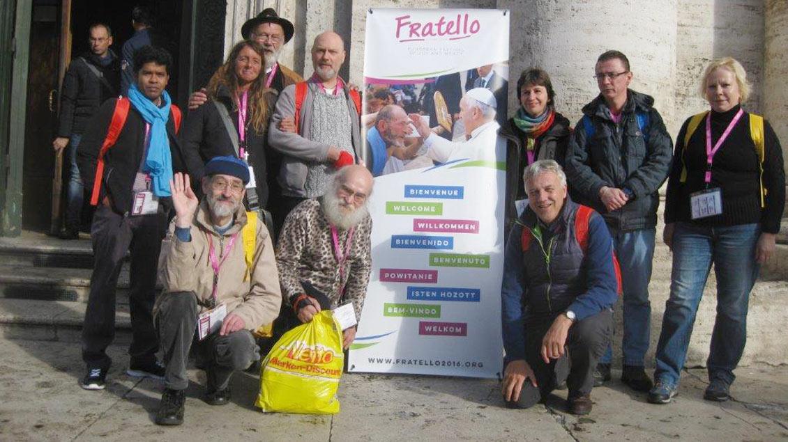 Obdachlose pilgern nach Rom