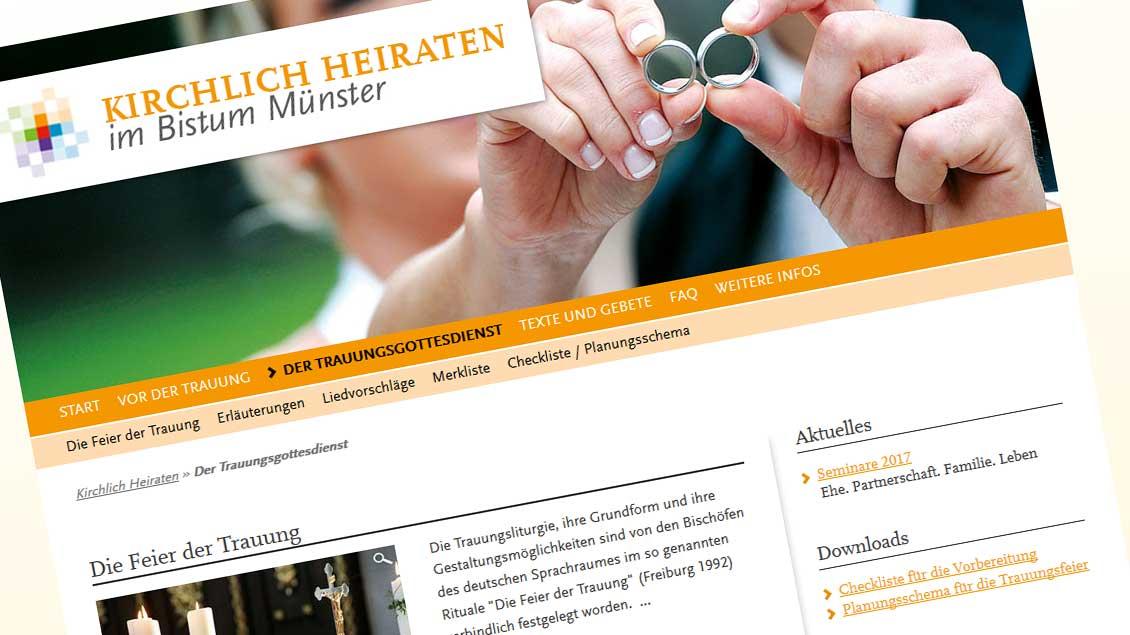 www.kirchlich-heiraten.de Foto: Screenshot