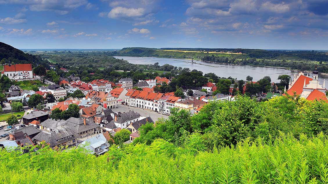 Blick auf Kazimierz Dolny.