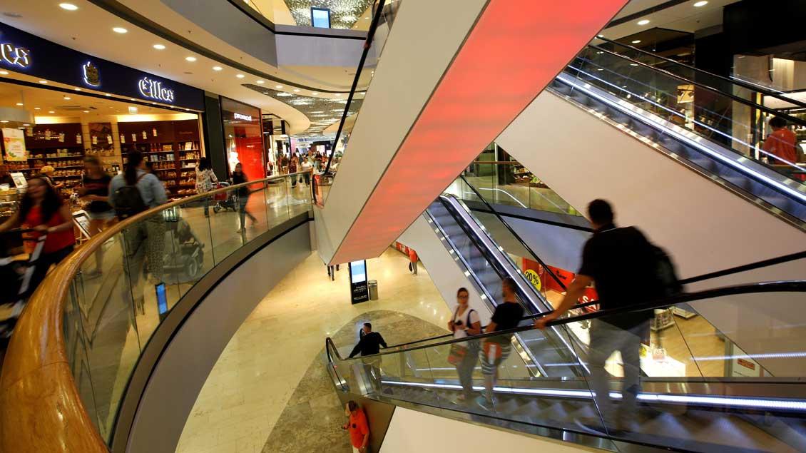 Einkaufszentrum.