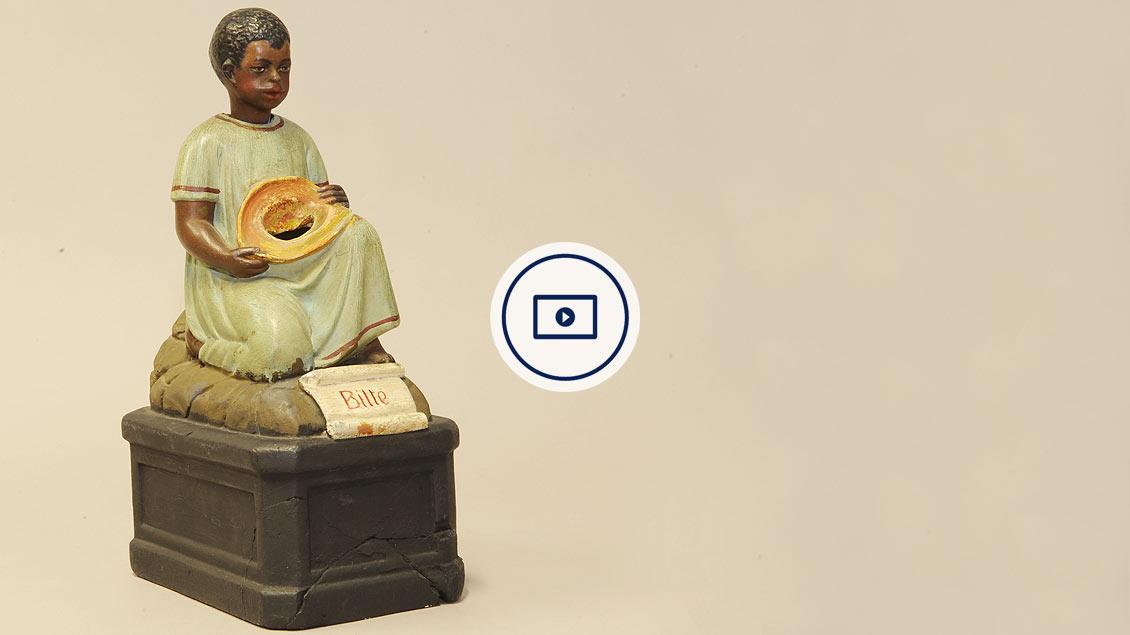 Der »Nick-Neger«, ein überholte Form der Spenden-Anfrage für die afrikanische Mission in den Kirchen.