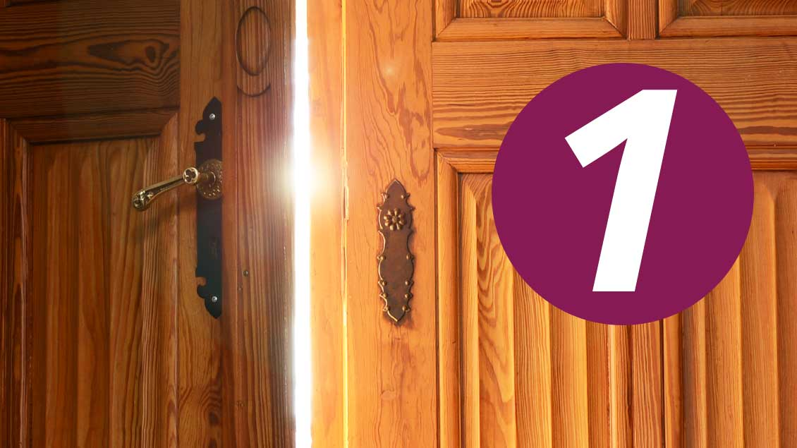 Die 1. Tür im Adventskalender.
