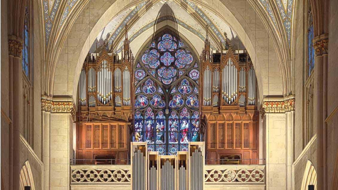 Die neue große Fleiter-Orgel im Billerbecker Dom.