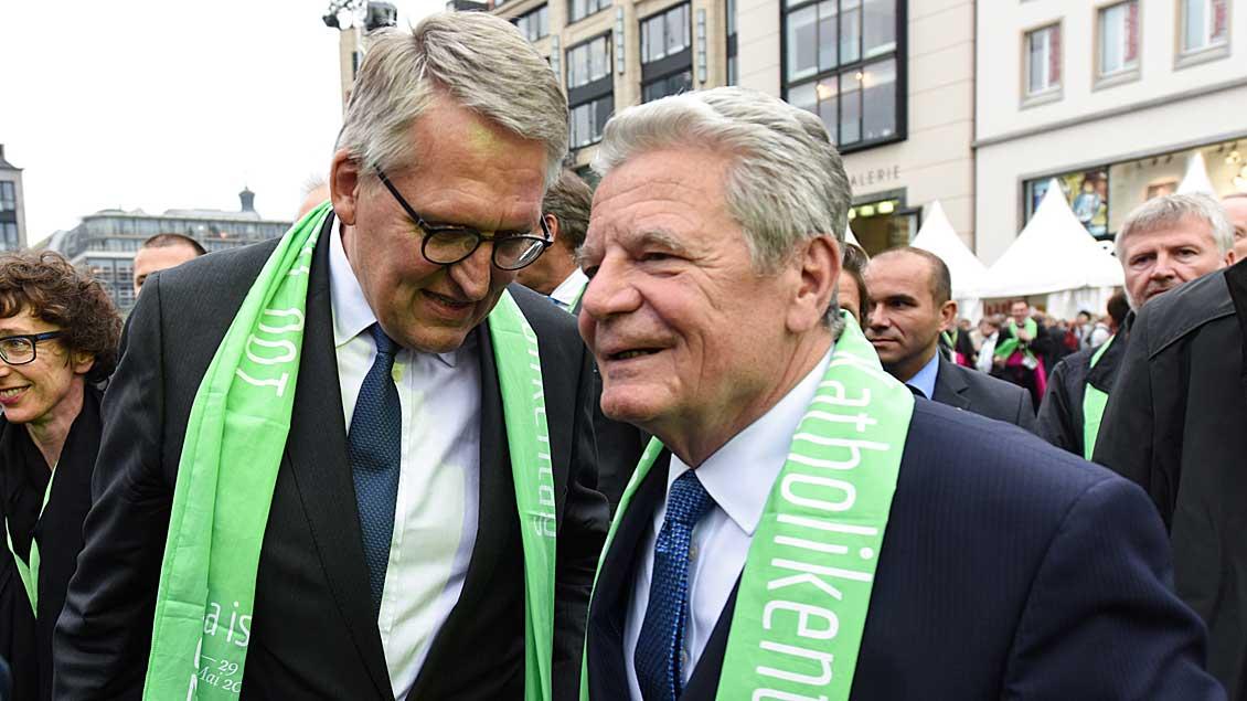 Thomas Sternberg und Joachim Gauck.