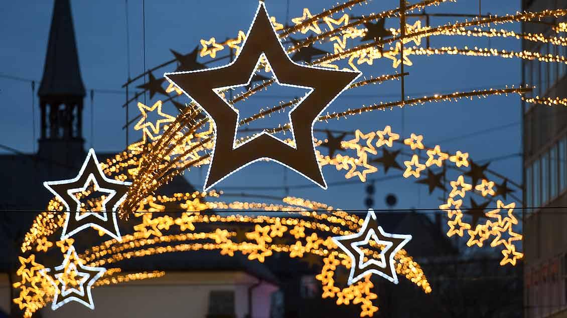Weihnachtliche Lichter.