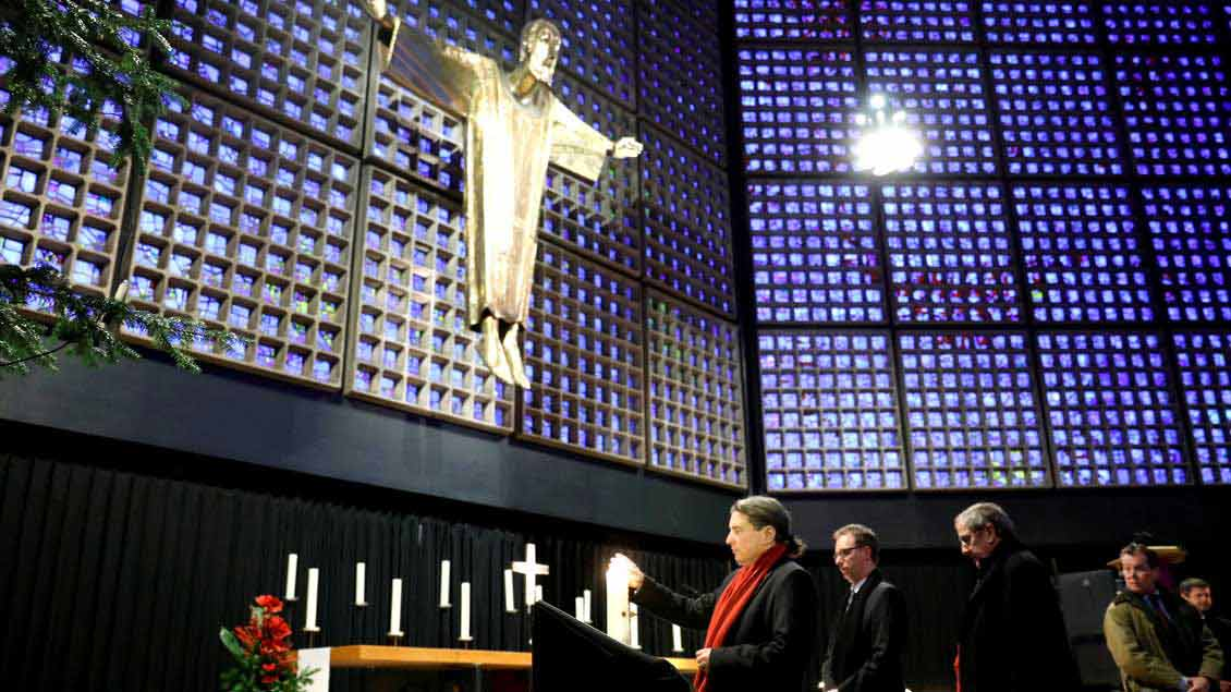 Gedenken an die Anschlagsopfer in der Berliner Gedächtniskirche.