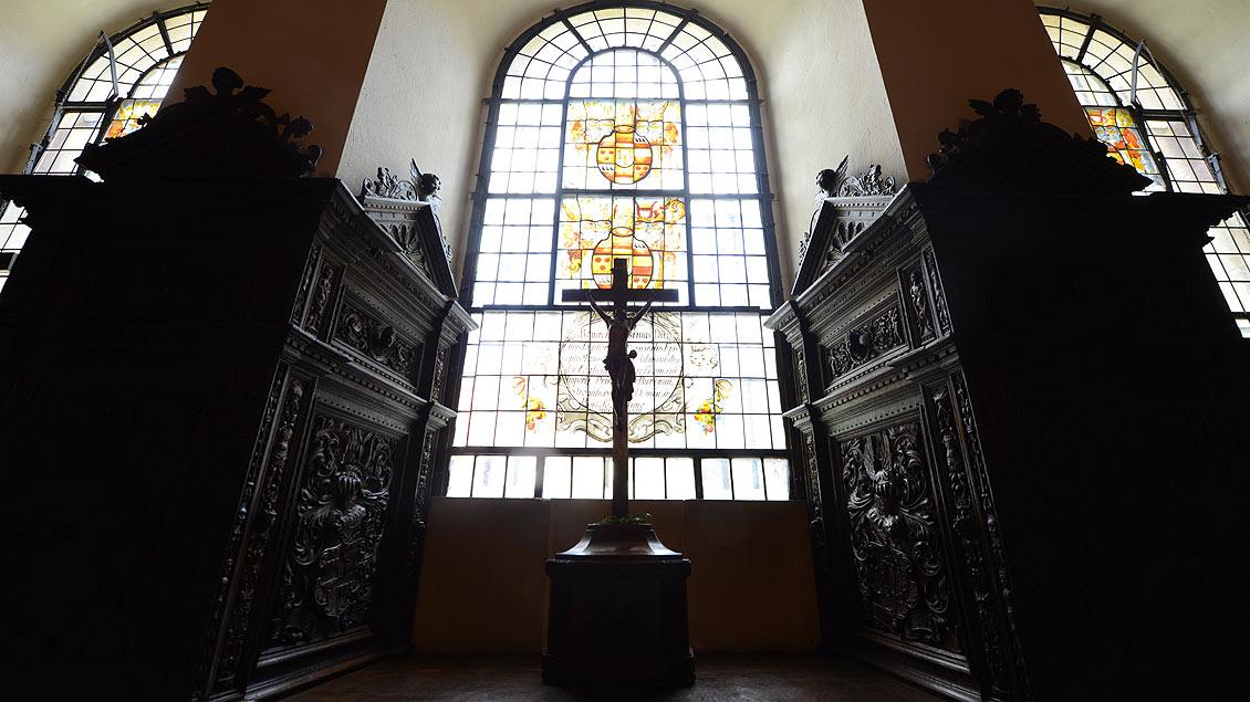 Fensternische im Kapitelssaal des St-Paulus-Doms.