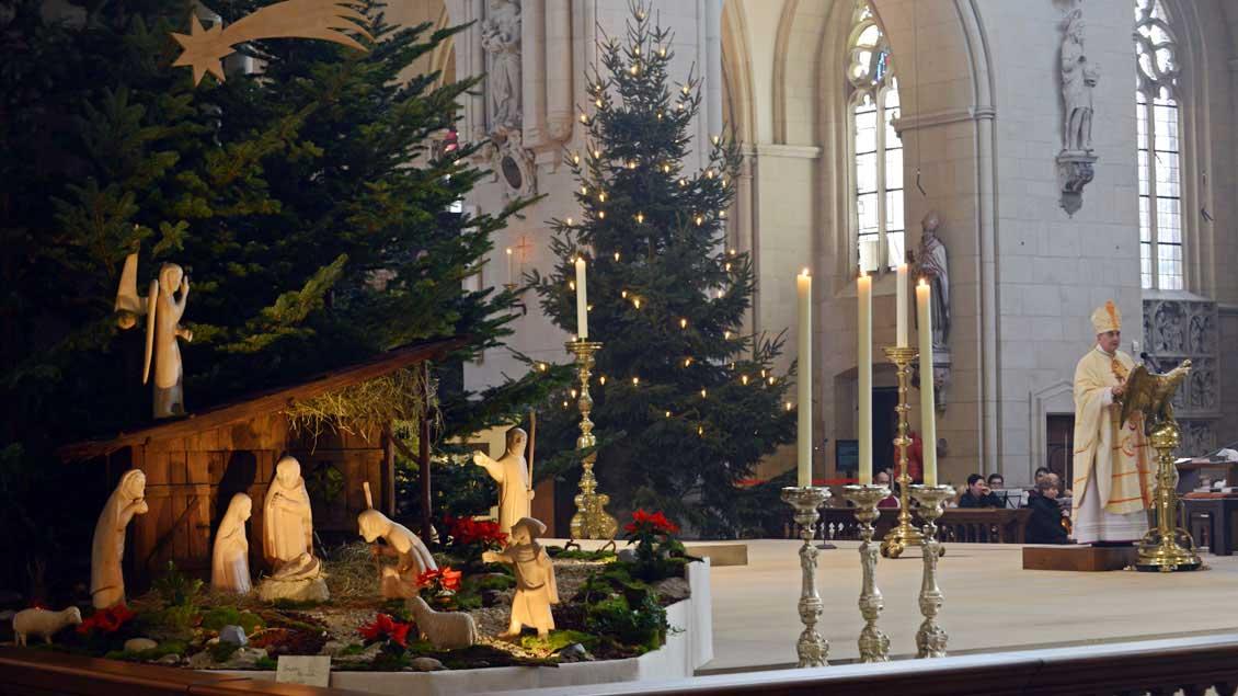 Die Krippe im Dom in Münster. Foto: Michael Bönte