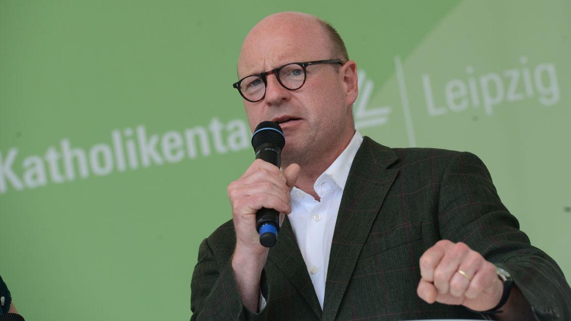 Der Münsteraner Oberbürgermeister Markus Lewe hält Werte wie Nächstenliebe für wichtig.