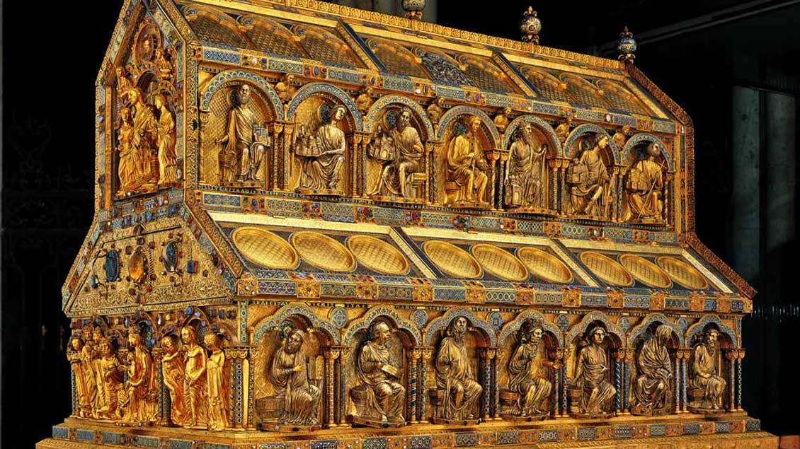 Kölner Oberbürgermeister sammeln als Heilige Drei Könige Spenden für Bethlehem