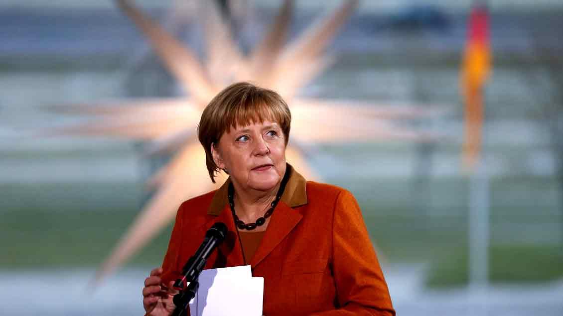 Bundeskanzlerin Angela Merkel erhält den Eugen-Bolz-Preis 2017. Foto: Reuters