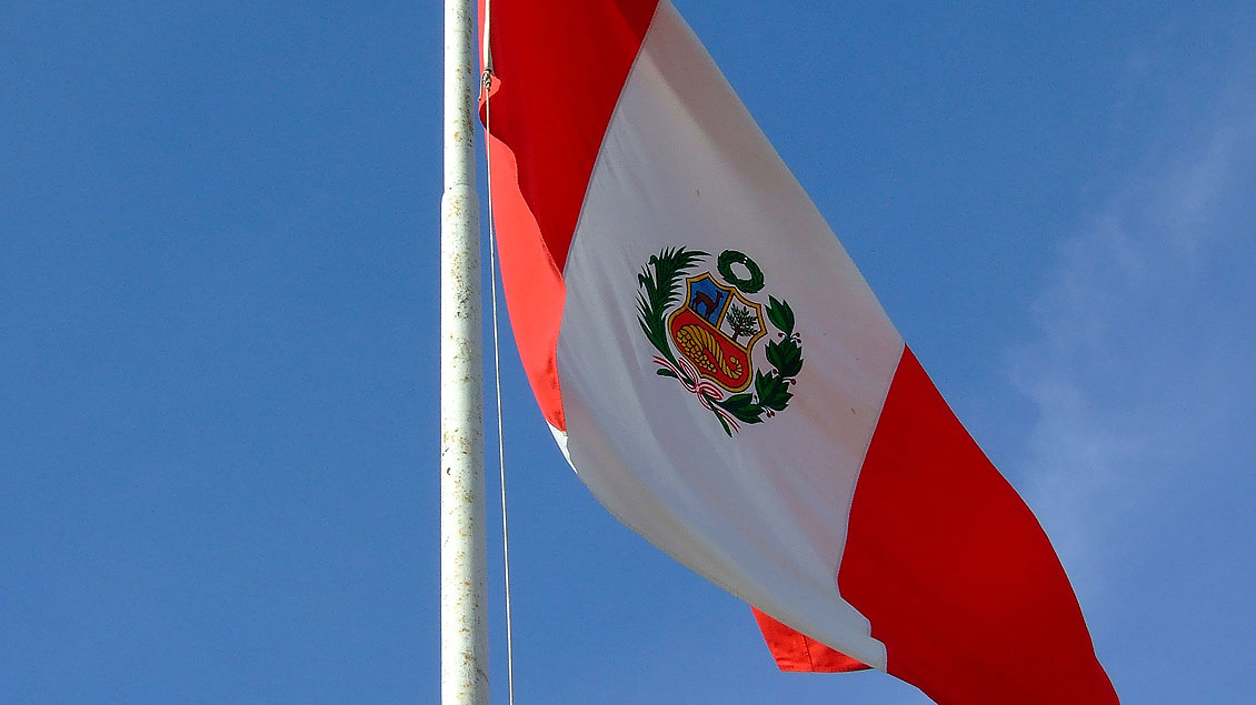 Die Flagge von Peru.