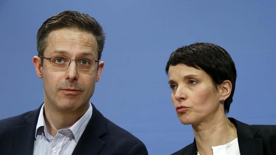 Spitzen der AfD: Marcus Pretzell, Vorsitzender der Partei in NRW, und Bundesvorsitzende Frauke Petry.