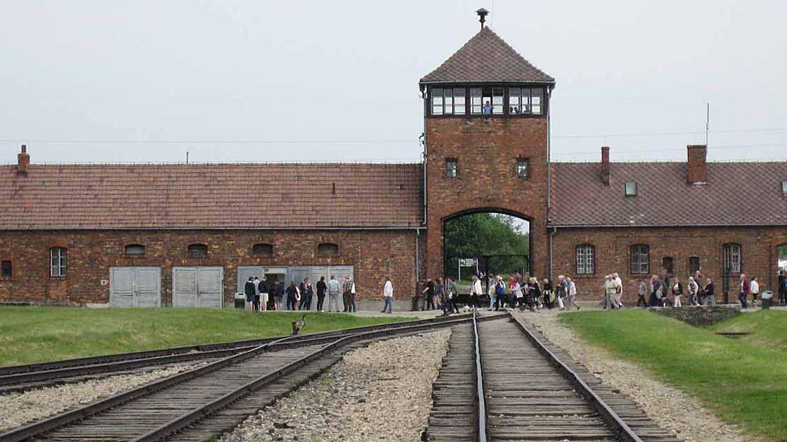Gleise im Konzentrationslager Auschwitz.