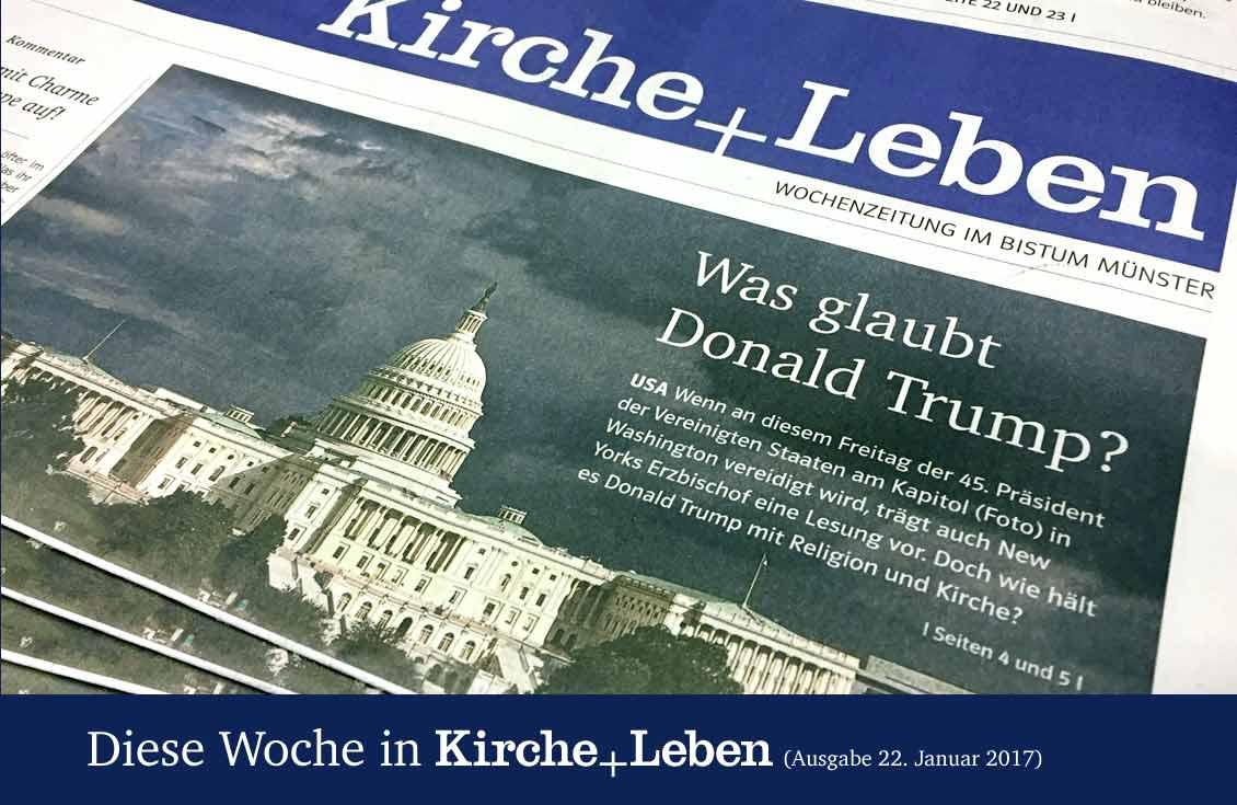 Die aktuelle Titelseite von Kirche+Leben.