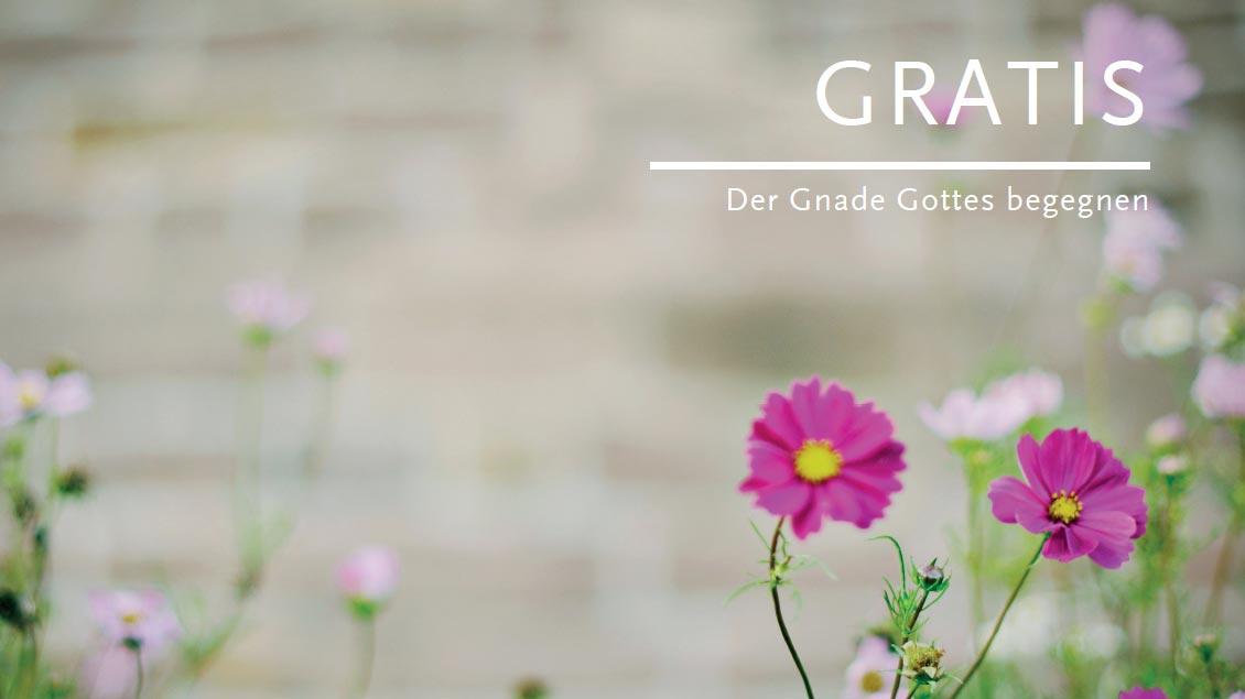 """""""Gratis - der Gnade Gottes begegnen"""" lautet der Titel einer Broschüre, mit der das Bistum Münster im Jahr des Reformationsgedenkens Exerzitien im Alltag anbietet."""