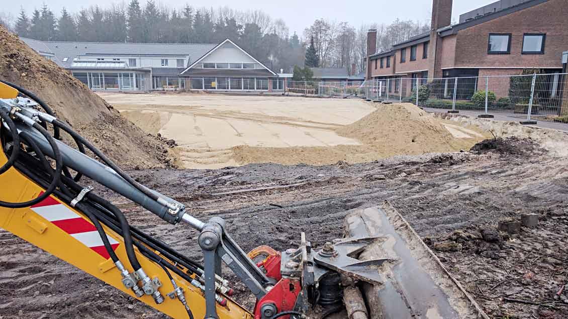 Der Umbau des BDKJ-Jugendhofs hat begonnen. Foto: Michael Rottmann