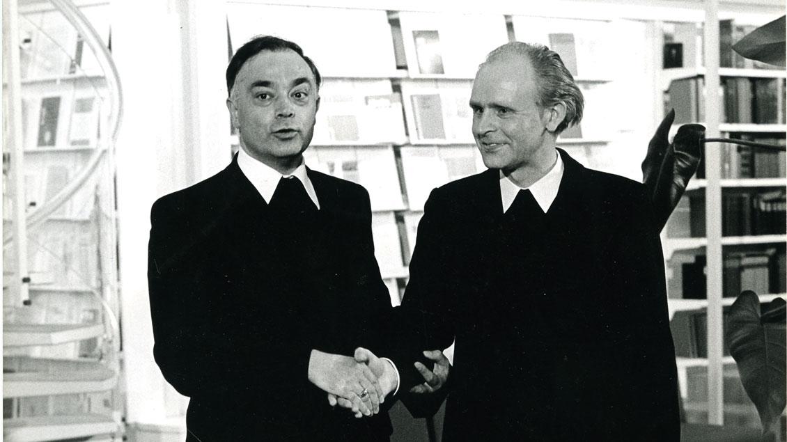 Regens Franz Kamphaus mit Bischof Reinhard Lettmann. | Foto: Archiv