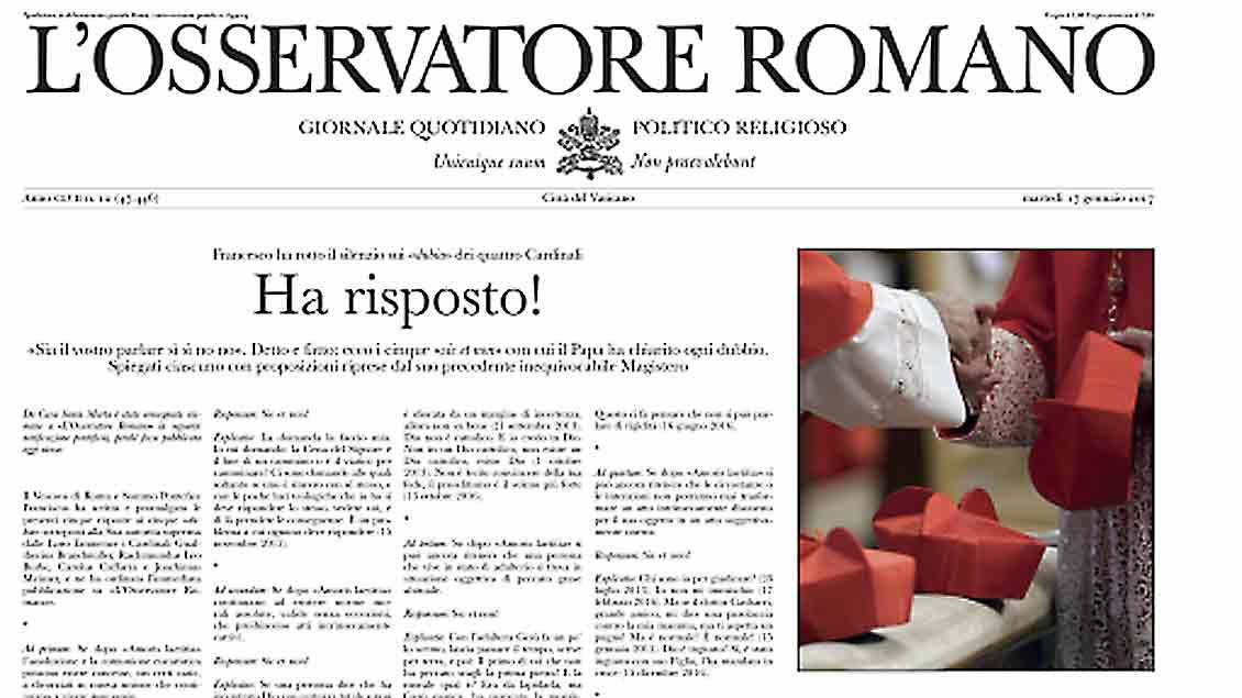 """Eine gefälschte Ausgabe des """"Osservatore"""""""