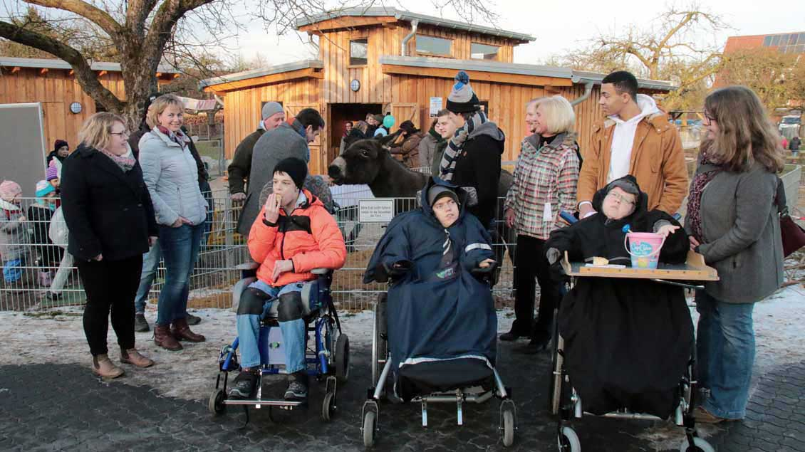 In neuem Glanz präsentiert sich der Streichelzoo der Kinderheilstätte Nordkirchen, wo 130 Kinder mit Behinderungen leben.