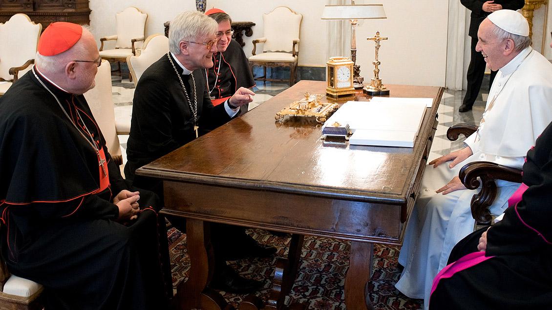 Bedford-Strohm und Papst Franziskus