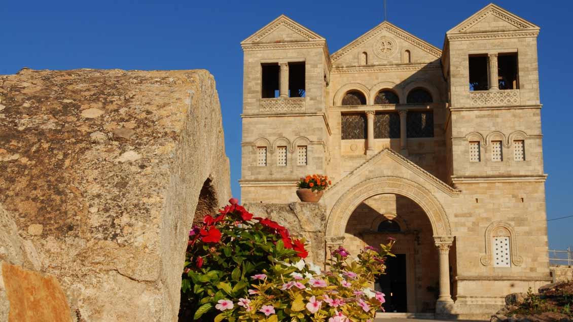 Basilika der Verklärung auf dem Berg Tabor in Israel.