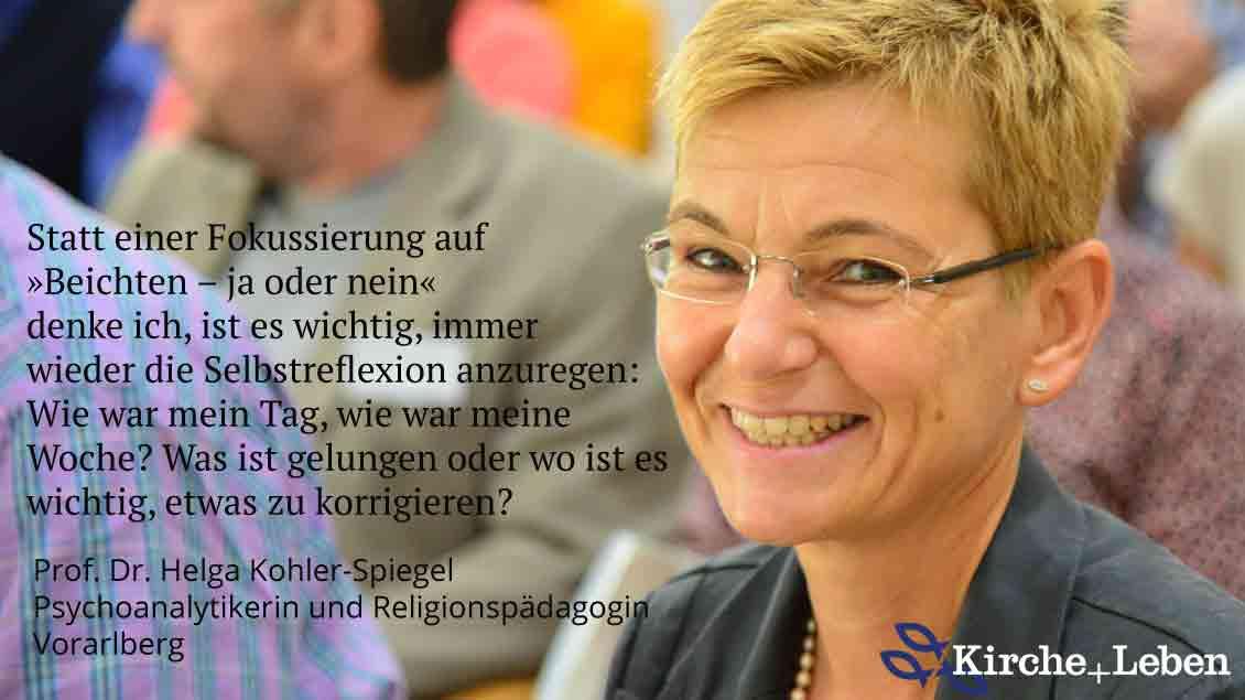 Helga Kohler-Spiegel, Psychoanalytikerin, Pädagogische Hochschule Vorarlberg.
