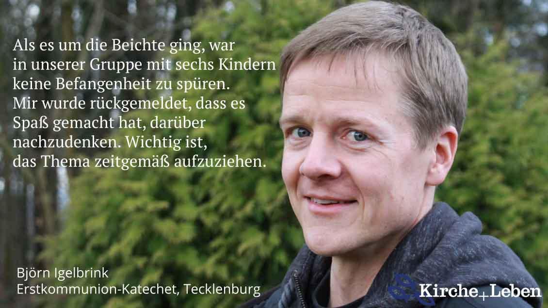 Björn Igelbrink, Katechet in der Erstkommunionvorbereitung, Tecklenburg.