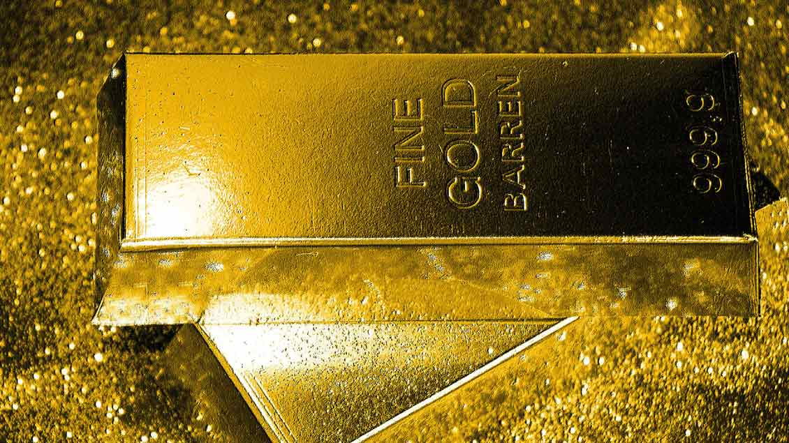Goldbarren.