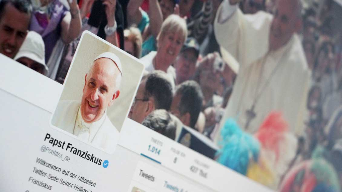 Twitter-Account von Papst Franziskus.