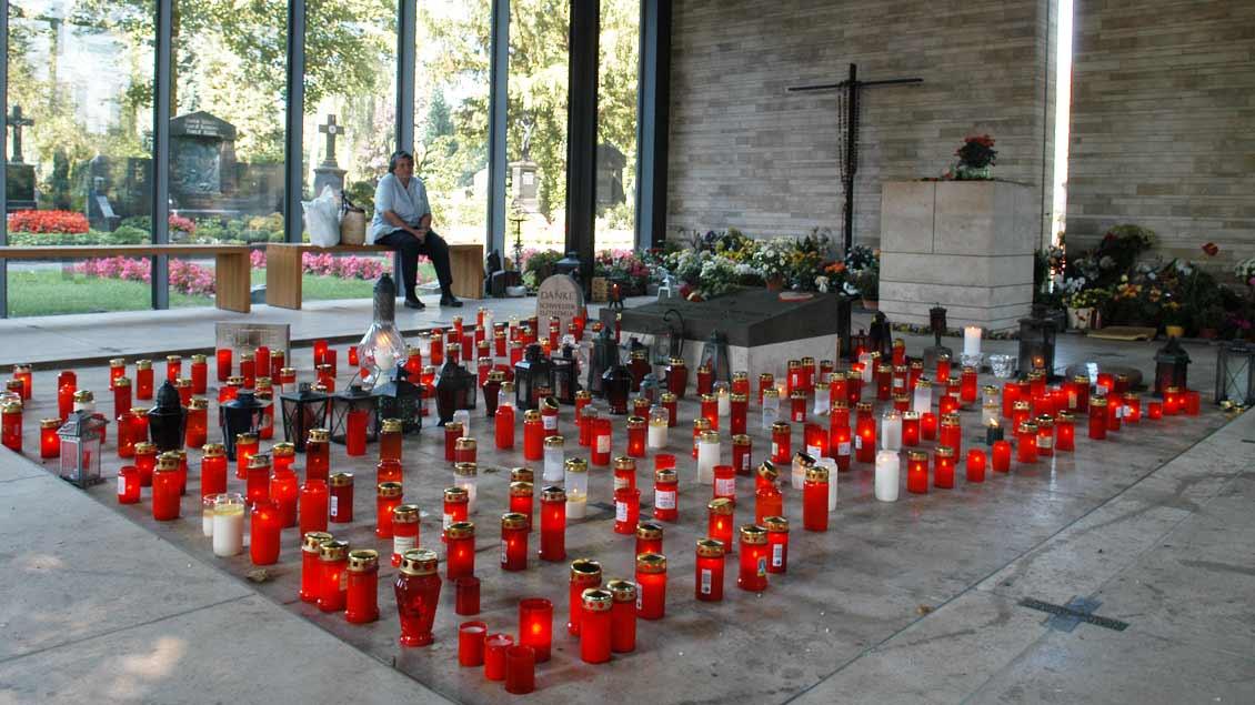 Grab der seligen Schwester Maria Euthymia auf dem Zentralfriedhof in Münster. Foto: Michael Bönte