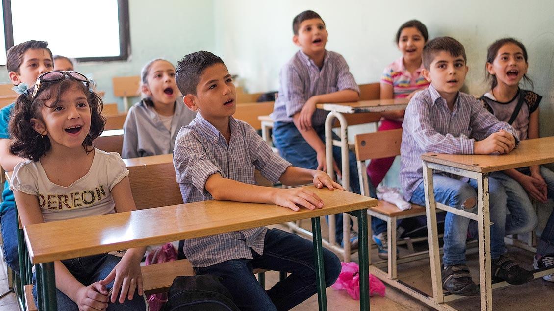 Mit Spenden des Bistums Münster wurde ein Schulprojekt im Libanon für Flüchtlingskinder aus Syrien gestartet.
