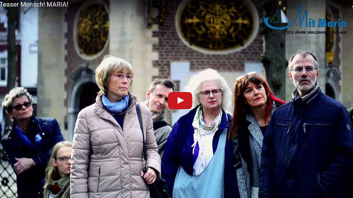 """Auch auf YouTube ist der Teaser zum Mysterienspiel """"Mensch! Maria"""" zu sehen. Foto: Marie-Theres Himstedt"""
