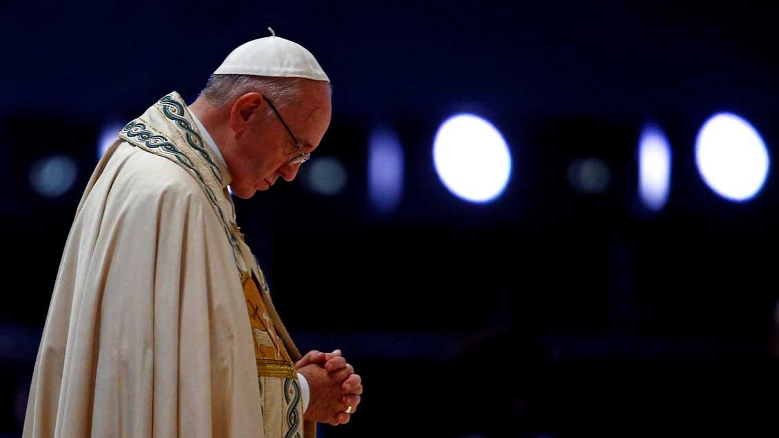 """""""Ich kenne auch die leeren Momente"""": Papst Franziskus während des Weltjugendtags 2016 in Krakau."""