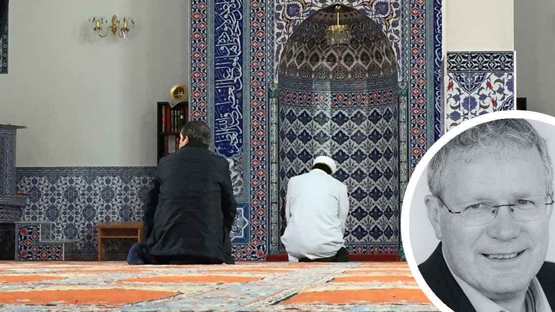 Mittagsgebet in einer Moschee in Münster. Foto: Markus Nolte, Michael Bönte