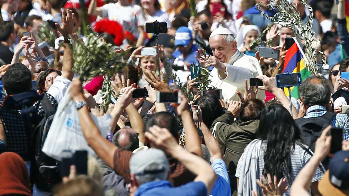 Papst Franziskus am Palmsonntag 2017