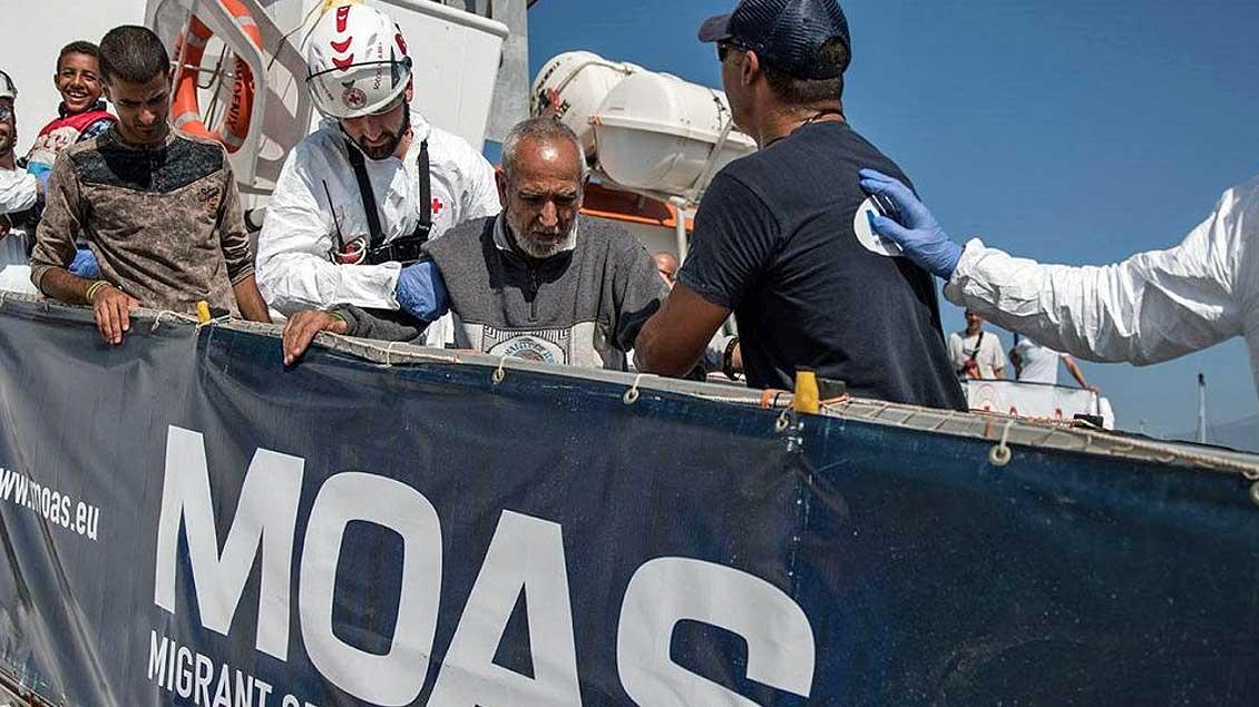 Das Boot der Organisation MOAS.