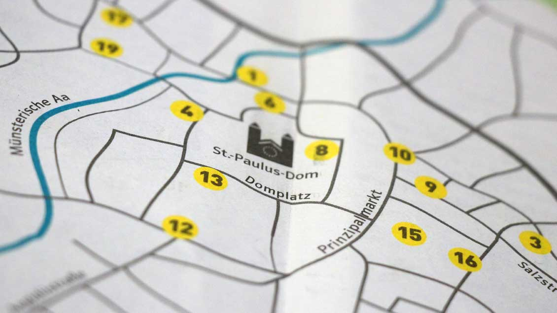 Karte von Münster.