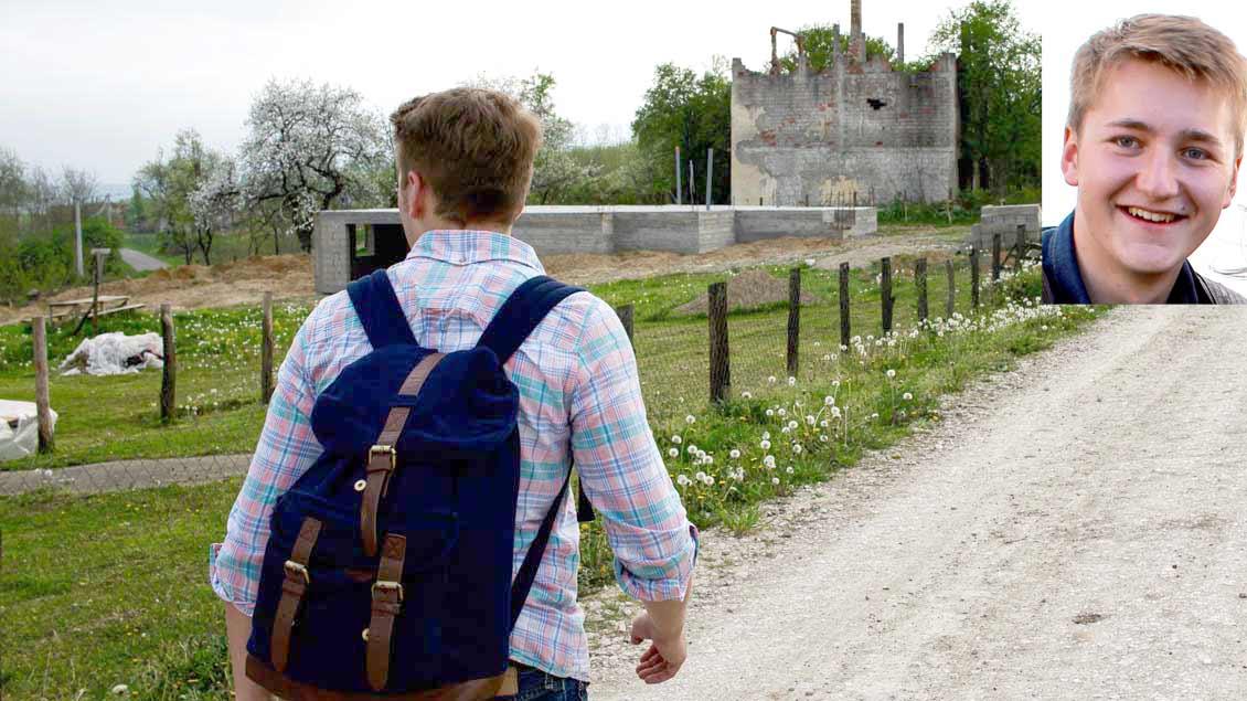 Milan Zmrzlak auf einer Wanderung durch Bosnien-Herzegowina.