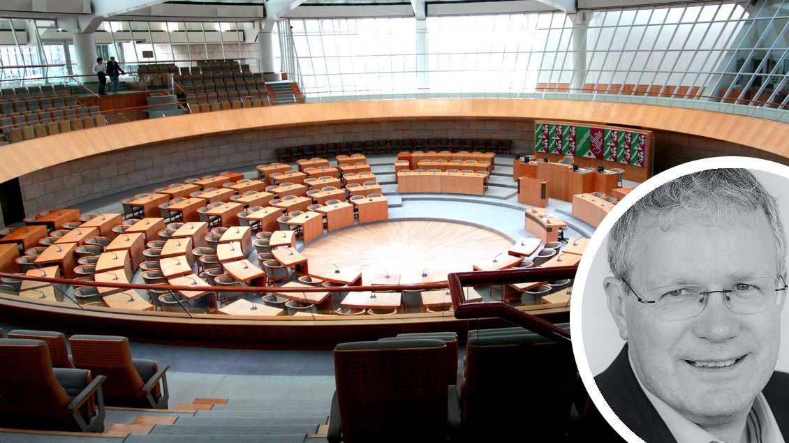 """""""Wahlrecht ist für Christen Wahlpflicht"""", sagt Christof Haverkamp in seinem Kommentar. Unser Bild zeigt den Landtag von Nordrhein-Westfalen in Düsseldorf."""