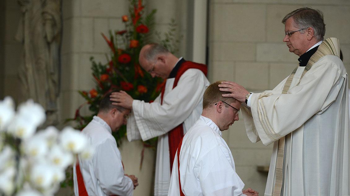 Bei der Priesterweihe 2015 in Münster.
