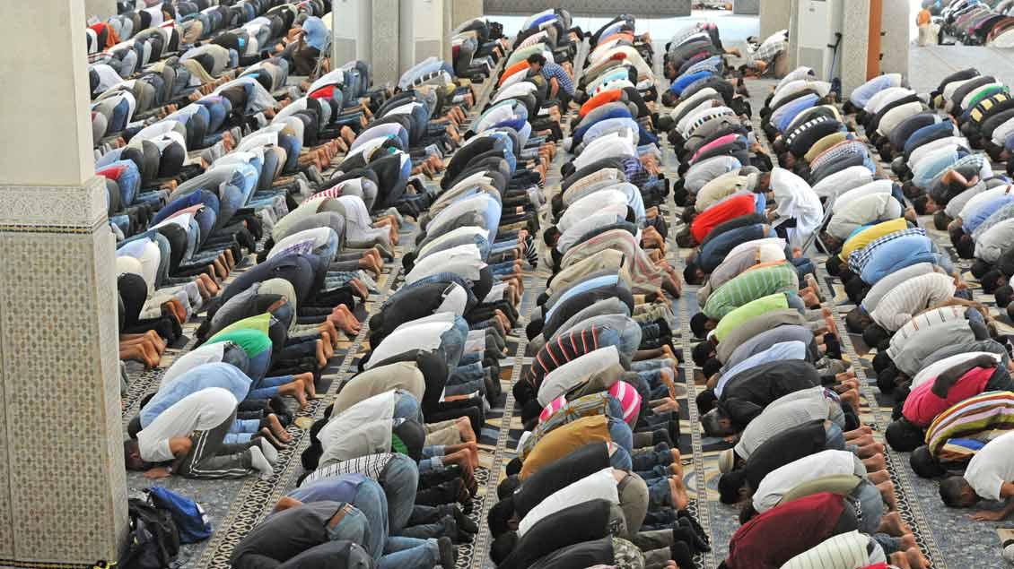 Freitagsgebet in der großen Moschee in Rom.