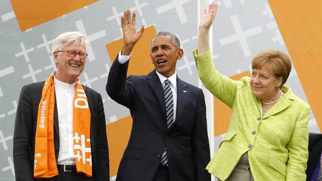 Kirchentag mit Obama und Merkel