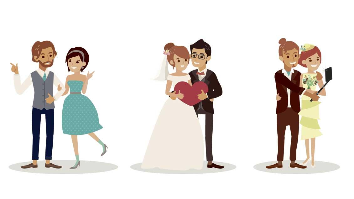 Drei Hochzeiten und ein Sakrament: Auch kirchliche Trauungen haben es längst nicht immer mit zwei katholischen Ehepartnern zu tun.