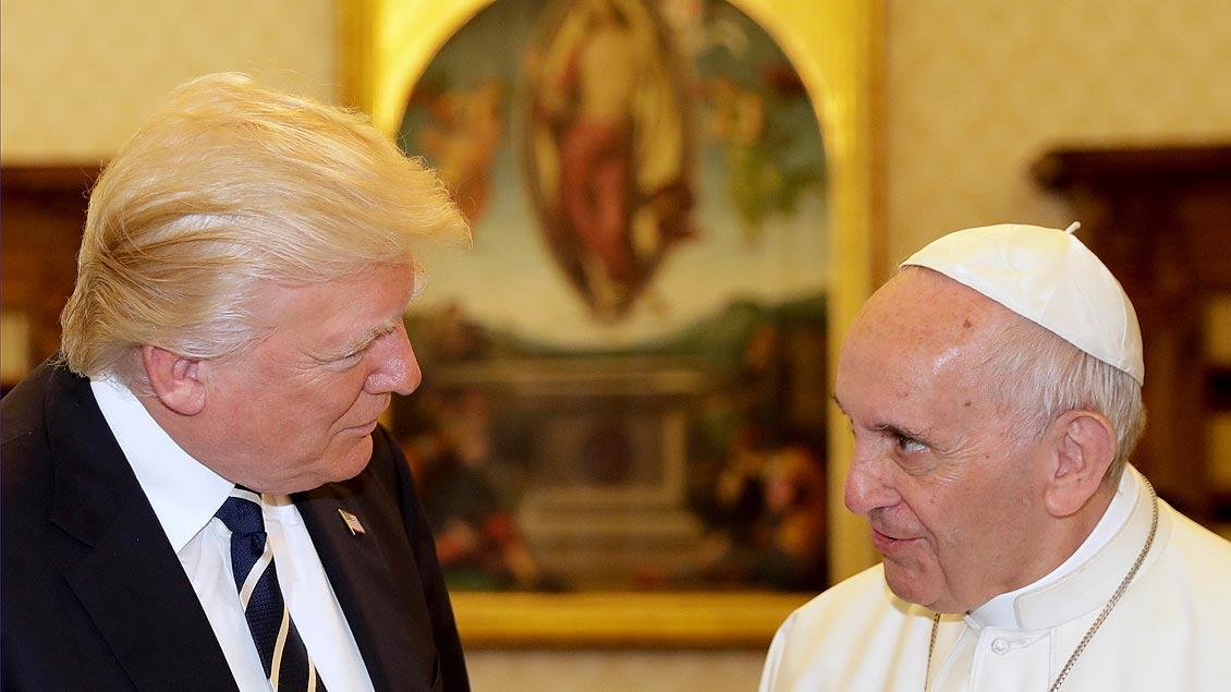 Donald Trump und Papst Franziskus
