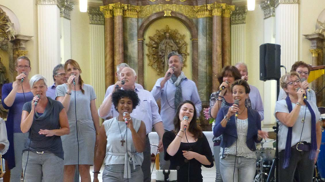 "Der Gospel-Chor ""Sing with Spirit"""