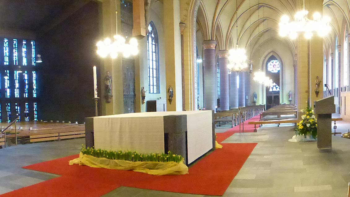 Der Innenraum der Garreler Kirche.